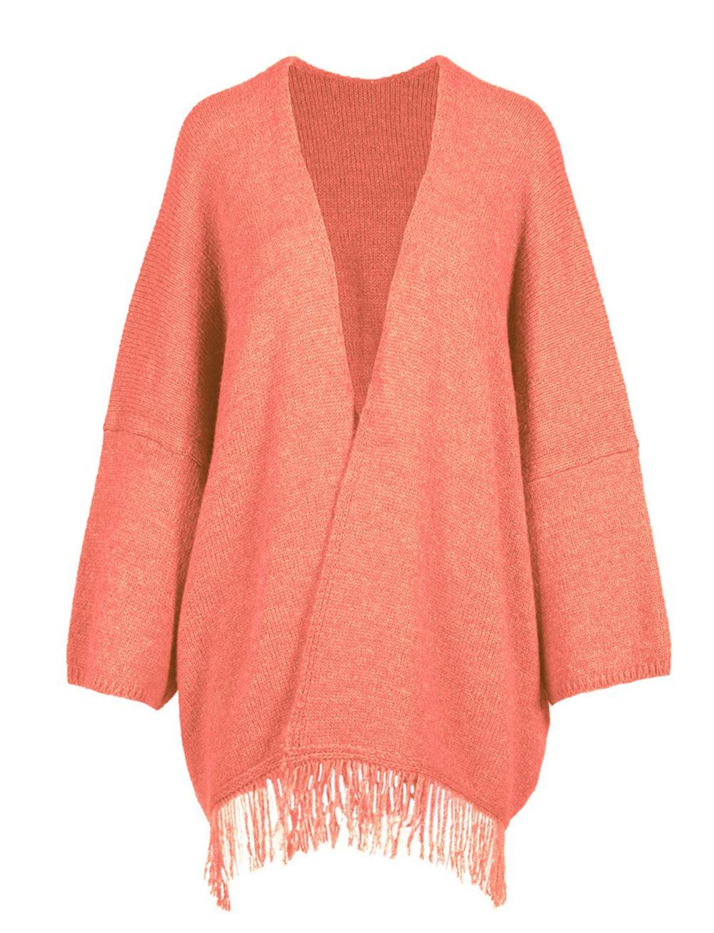 chaqueta-poncho-rosa