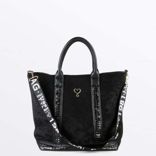 shopper-negro-aterciopelado-frontal